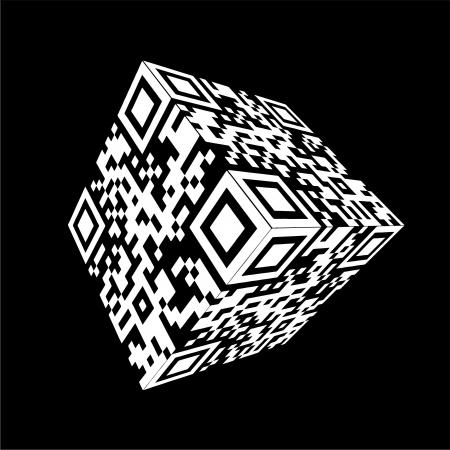 bar codes: Modern Cube qr code
