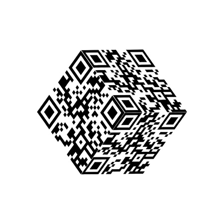 qr code: Modern Cube qr code
