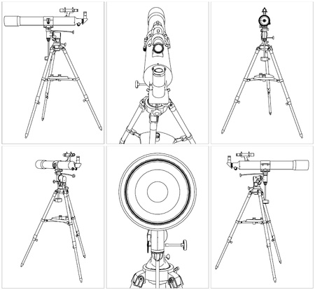 eyepiece: Telescope On Tripod