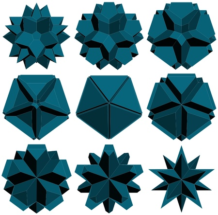 prisma: Hedra Transformaci?n Estrella Estructura Forma Vectores