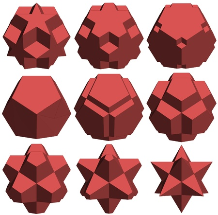 Hedra Star Transformation Structure Shape Vector