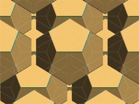 kaleidoscopic: Spider Net Line Brown Geometric Kaleidoscope Vector