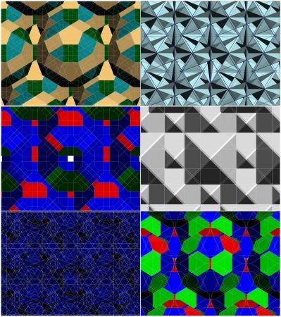 Spider Net Line Colorful Geometric Kaleidoscope Vector Vector