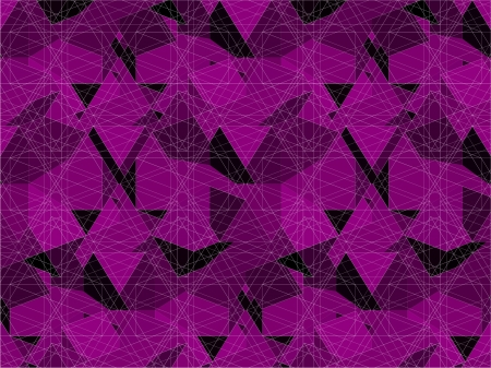 Spider Net Line Purple Geometric Kaleidoscope Vector Illustration