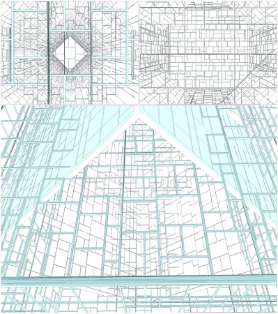 building plans: Abstract Ornamental Constructions Vector
