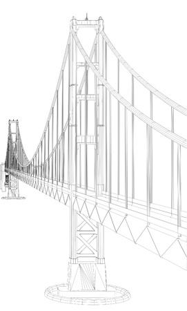 steel bridge: The Bridge Vector
