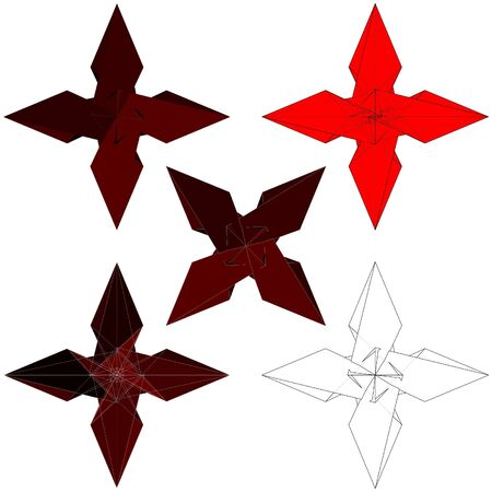 murdering: Ninja Stars Shuriken Vector