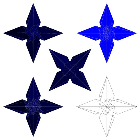 lethal: Ninja Stars Shuriken Vector