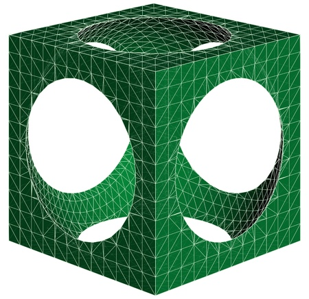 subtraction: Geometric Subtraction Of Cube And Sphere