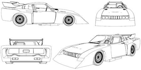 sponsors: Race Car Vector