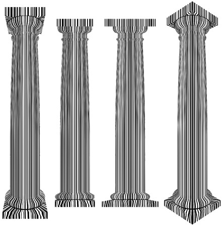 Classic Column Covered With Bar Code Zebra Stripes Vector  Stock Vector - 22735829