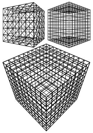 Cage Box Cube Vector Stock Vector - 23267093