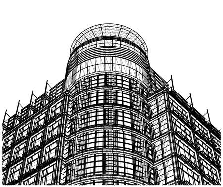 kwadrant: Szkło budowlane Corner Wejście Koło i Quadrant Wektor