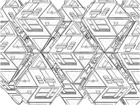 tetraedro: Tetraedro Costruzioni Struttura Vector Vettoriali
