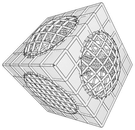 Cage Box Cube Vector Stock Vector - 25127590