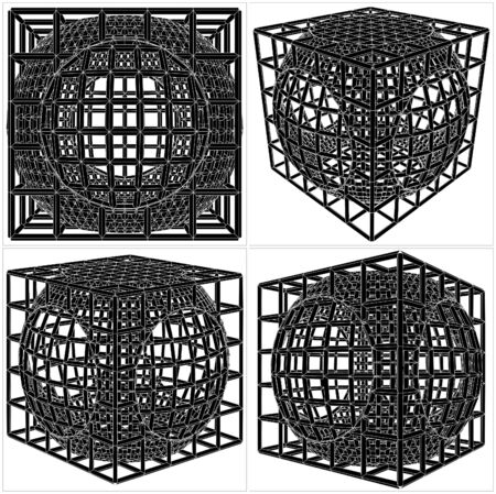 jail cell: Cage Box Cube Vector