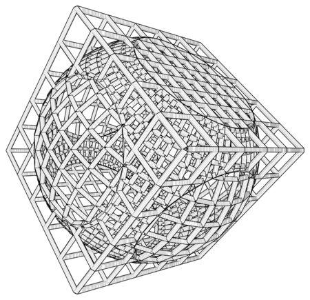 Cage Box Cube Vector Stock Vector - 25127586