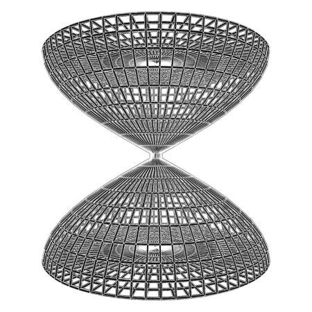 incartade: Construction de construction de Roue Cage Vecteur