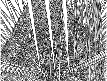 Abstract Urban City Building In Chaos Vector