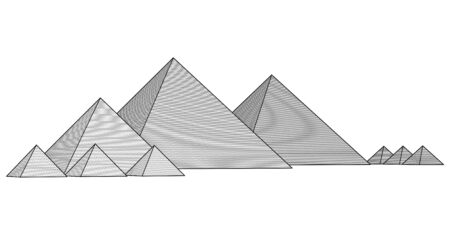 cheops: Pyramids From The Giza Plateau  Illustration