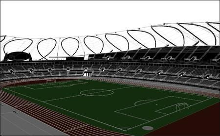 venue: Calcio Soccer Stadium Vector