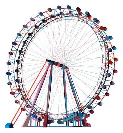 Colorful Double Carousel Vector  Vettoriali