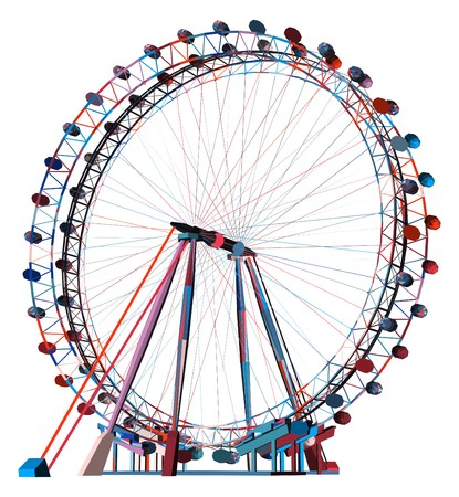 Kleurrijke Dubbele Carrousel Vector