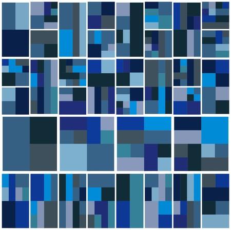 tetris: Vintage Hipster Geometric Pattern In Tetris Style  Illustration