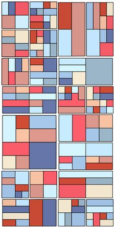 nineties: Vintage Hipster Geometric Pattern In Tetris Style  Illustration
