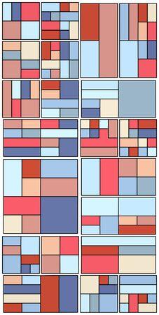 bauhaus: Vintage Hipster Geometric Pattern In Tetris Style  Illustration