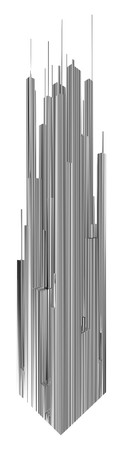 abstract building: Abstract Urban City Of Skyscrapers Stripes  Illustration