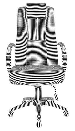 easy chair: Office Armchair Stripes Vector