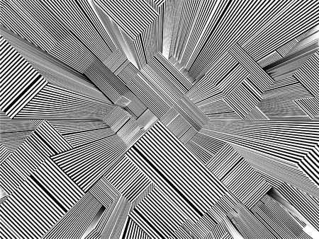 abstract city: Abstract Urban City Of Skyscrapers Stripes Vector