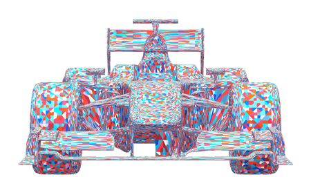 bolide: Race Car Colorful Vector
