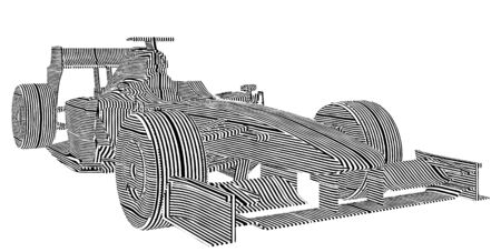 formula car: Race Car Stripes Vector  Illustration