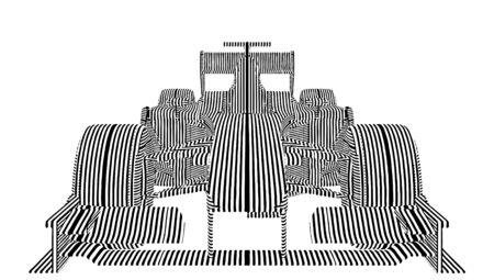Race Car Stripes Vector  Illustration