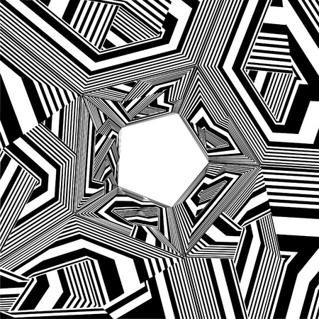 pentagon: Black And White Pentagon Pattern