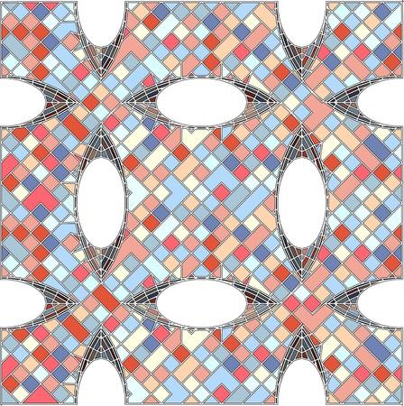 bauhaus: Vintage Hipster Mosaic Geometric Pattern Background