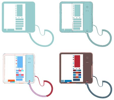 lcd: Office IP Telephone Set With LCD Vector