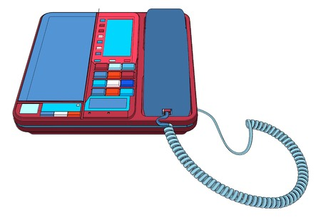 ip: Office IP Telephone Set With LCD Vector