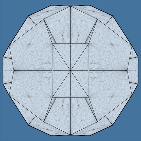 polyhedron: Origami Structure Vector
