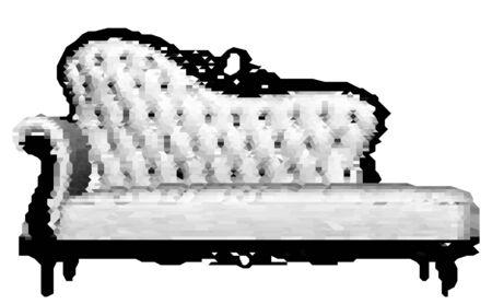 pixelated: Pixelated Mosaic Tiled Sofa Vector