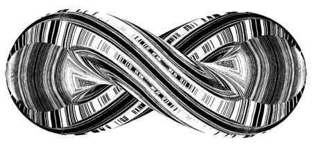 infinity sign: Infinity Symbol In Geometric Twisted Shape Vector