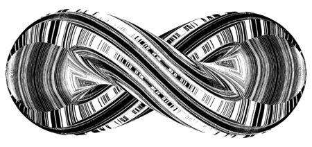 signo infinito: Símbolo del infinito En geométrica Forma vectorial Twisted