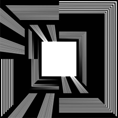 light at the end of the tunnel: Light At The End Of Tunnel Quadrate Exit Vector Illustration