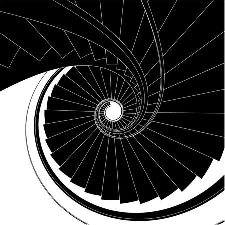 espiral: Escalera de caracol vector Vectores