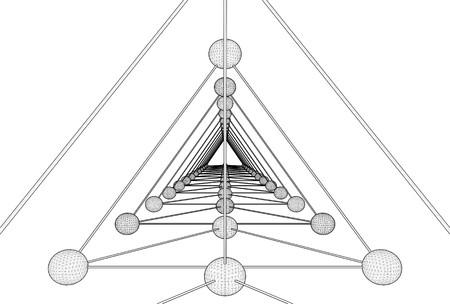 tetrahedron: Tetrahedron DNA Molecule Structure Vector