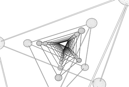 tetraedro: Tetraedro DNA Molecule struttura vettoriale