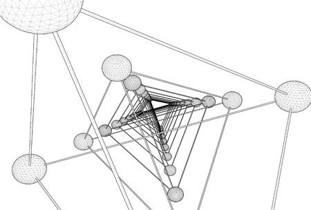 icosahedron: Tetrahedron DNA Molecule Structure Vector