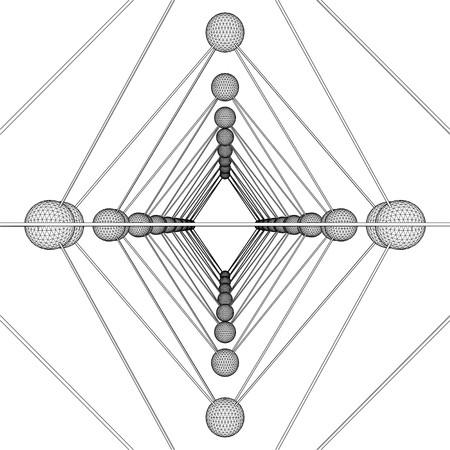 octahedron: Octahedron DNA Molecule Structure Vector Illustration
